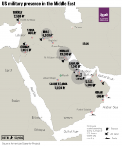 US bases and facilities in the Middle East (infographic ...