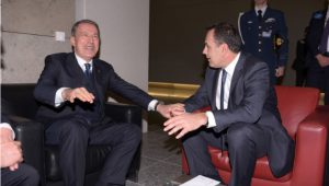Greek and Turkish defense ministers meet in NATO summit sidelines